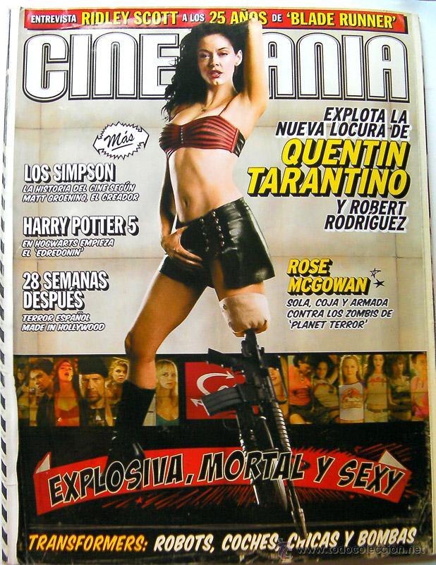 REVISTA DE CINE CINEMANIA JULIO 2007-LOS SIMPSON-HARRY POTTER 5-TRANSFORMERS-RIDLEY SCOTT-ROSE MCGOM (Cine - Revistas - Cinemanía)