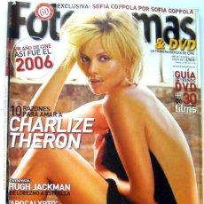 Cine: REVISTA CINE FOTOGRAMAS ENERO 2007-ASI FUE EL 2006-CHARLIZA THERON-APOCALYPTO-CLOONEY-HUGH JACKMAN-S. Lote 45525675