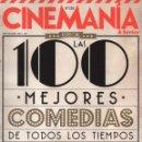 Cine: CINEMANIA N. 228 SEPTIEMBRE 2014 - EN PORTADA: LAS 100 MEJORES COMEDIAS DE TODOS LOS TIEMPOS (NUEVA). Lote 70521637