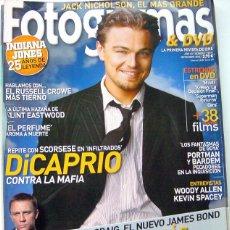 Cine: REVISTA DE CINE FOTOGRAMAS NOVIEMBRE 2006-DICARPIO INFILTRADOS-DANIEL CRAIG EL NUEVO JAMES BOND-CLIN. Lote 45604441