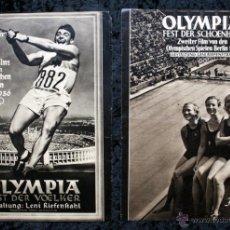 Cine: OLYMPIA - LENI RIEFENSTAHL - ORIGINAL - 1936 - OLIMPIADAS - BERLIN - ALEMANIA. Lote 45711983