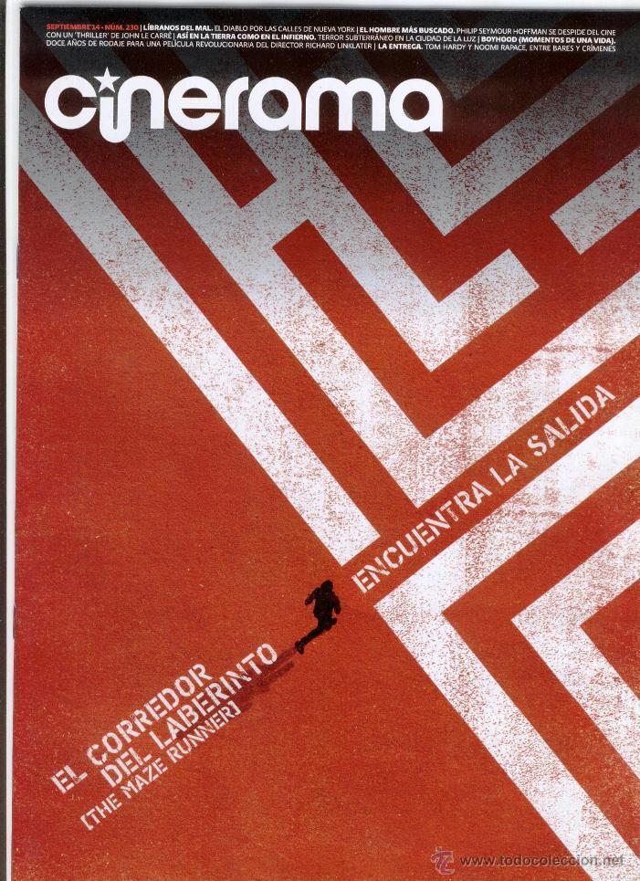 REVISTA CINERAMA ** SEPTIEMBRE 2014 - PORTADA: EL CORREDOR DEL LABERINTO (Cine - Revistas - Cinerama)