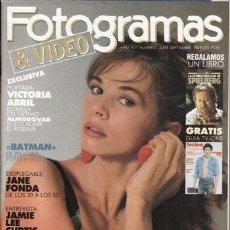 Cine: REVISTA FOTOGRAMAS Nº 1755. PORTADA: VICTORIA ABRIL. JANE FONDA. JAMIE LEE CURTIS. . Lote 46044671