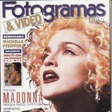 Cine: REVISTA FOTOGRAMAS Nº 1763 AÑO 1990. PORTADA: MADONNA. MICHELLE PFEIFFER. DANIEL DAY LEWIS. JEFF BRI. Lote 46060970