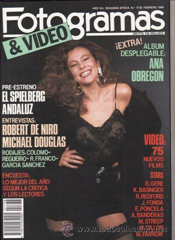 REVISTA FOTOGRAMAS Nº 1738 AÑO 1988. PORTADA: ANA OBREGON. ROBERT DE NIRO. MICHAEL DOUGLAS. (Cine - Revistas - Fotogramas)