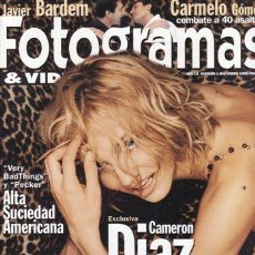 Cine: REVISTA FOTOGRAMAS Nº 1863 AÑO 1999. PORTADA: CAMERON DIAZ. VERY BAD THINGS. PECKER.. Lote 46091628