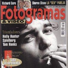 Cine: REVISTA FOTOGRAMAS Nº 1807 AÑO 1994. PORTADA: ANTONIO BANDERAS. HOLLY HUNTER. SPIELBERG. TOM HANKS. . Lote 46127520