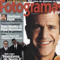 Cinema: REVISTA FOTOGRAMAS Nº 1907 AÑO 2002. PORTADA: MEL GIBSON. HARRISON FORD. TOM HANKS. PAUL NEWMAN.. Lote 46153783