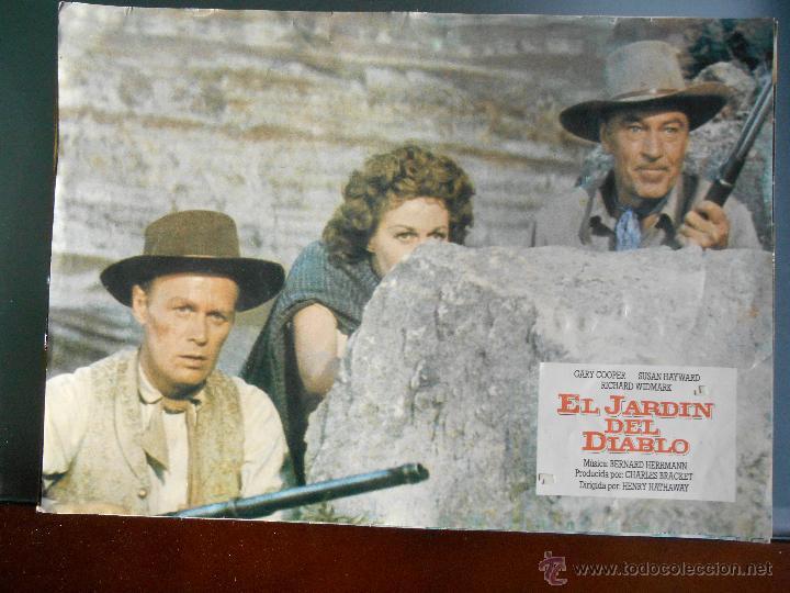 CARTEL PUBLICITARIO DE : EL JARDIN DEL DIABLO DE: 33,5 X 24 CTM. (Cine - Reproducciones de carteles, folletos...)