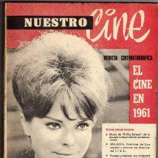 Cine: REVISTA NUESTRO CINE. GRAN LOTE DE 64 NºS. ENTRE Nº 10 Y 99. AÑO 1961. Lote 46315698
