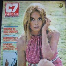 Cinema: REVISTA C7 CINE EN 7 DIAS Nº 614. JULIE ANDREWS, FREDERIKA EN PORTADA. 13 ENERO 1973. Lote 46404947