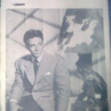 Cine: SOLO CONTRAPORTADA... CÁMARA AÑOS 50´S - DANE CLARK EN REVERSO PUBLICIDAD MYRURGIA. Lote 46415567