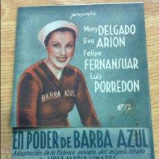 Cine: PODER DE BARBA AZUL. Lote 46432841