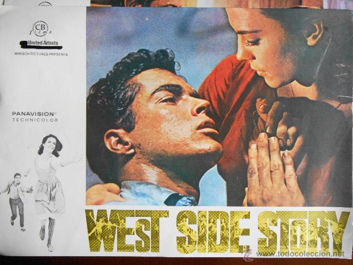 CARTEL PUBLICITARIO DE :WEST SIDE STORY, DE: 33,5 X 24 CTM. (Cine - Reproducciones de carteles, folletos...)