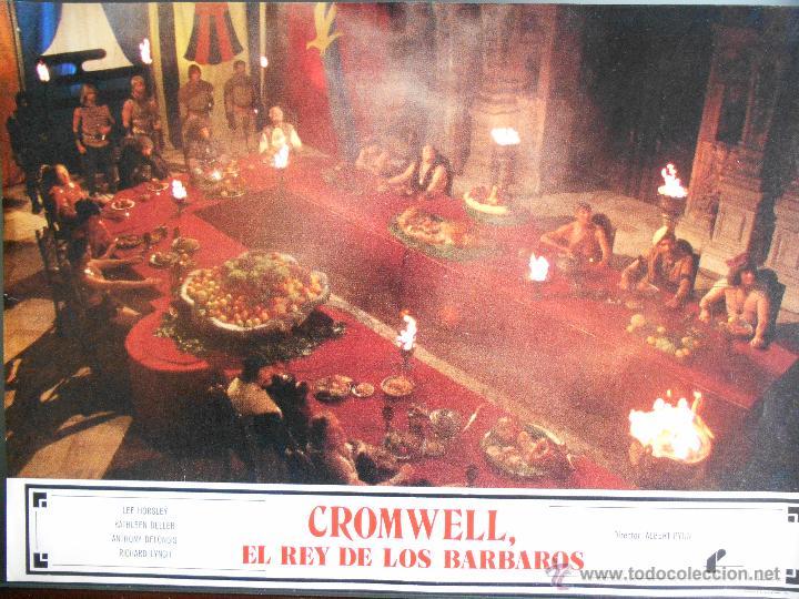 CARTEL PUBLICITARIO DE : CROMWELL EL REY DE LOS BARBAROS, DE: 33,5 X 24 CTM. (Cine - Reproducciones de carteles, folletos...)