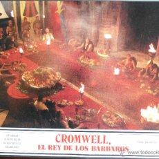 Cine: CARTEL PUBLICITARIO DE : CROMWELL EL REY DE LOS BARBAROS, DE: 33,5 X 24 CTM.. Lote 46536887