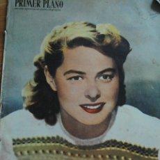 Cine: REVISTA PRIMER PLANO, MADRID 18 DICIEMBRE 1949 AÑO X Nº 479, INGRID BERGMAN, MELVYN DOUGLAS. Lote 46670112