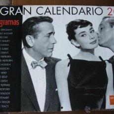 Cine: EL GRAN CALENDARIO 2008. FOTOGRAMAS. (42 X 29,5 CM.). INGRID BERGMAN, HUMPHREY BOGART, ETC. Lote 51401602