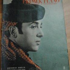 Cine: REVISTA PRIMER PLANO, MADRID 19 NOVIEMBRE 1950 AÑO XI Nº 527, ANTONIO AMAYA, JOAN FONTAINE. Lote 46705043