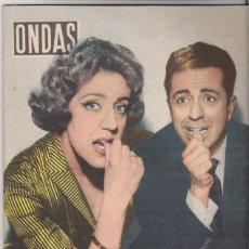 Cine: MARY SAMTPERE- JUAN CARLOS TORRY PORTADA DE ONDAS DE 1958 CONTRAPORTADA ANUNCIO TRI NARANJUS. Lote 46726462