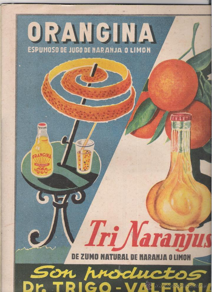 Cine: MARY SAMTPERE- JUAN CARLOS TORRY PORTADA DE ONDAS DE 1958 CONTRAPORTADA ANUNCIO TRI NARANJUS - Foto 2 - 46726462