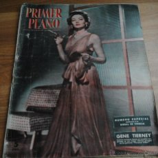 Cinéma: REVISTA PRIMER PLANO, MADRID 22 AGOSTO 1954 AÑO XIV Nº 723 TIERNEY, BIENAL DE VENECIA. Lote 46732743