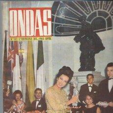 Cine: REVISTA ONDAS Nº 312 DIC. 1965, SILVANA PAMPANINI, MARGARITA DE INGLATERRA, MONICA VITTI. Lote 46748586
