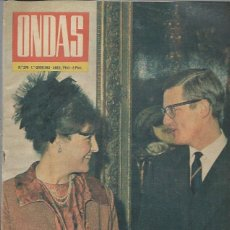 Cinema: REVISTA ONDAS Nº 296 ABRIL 1965, BAUTIZO DE ESTEFANIA DE MÓNACO, ELKE SOMMER, EL PADRE MOJICA. Lote 46748769