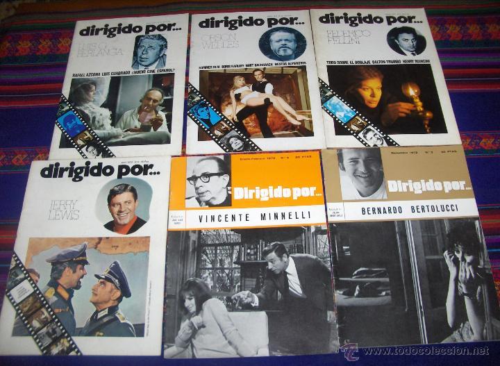 DIRIGIDO POR NºS 3 4 6 9 12 13. 1972. BERTOLUCCI MINNELLI JERRY LEWIS FELLINI ORSON WELLES BERLANGA. (Cine - Revistas - Dirigido por)
