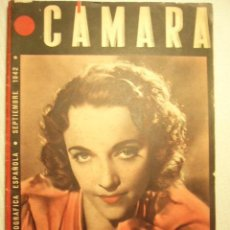 Cine: REVISTA DE CINE CÁMARA. SEPTIEMBRE. 1942. JAMES CRUZE, BENTIO PEROJO, VENECIA 1942.... Lote 46878238