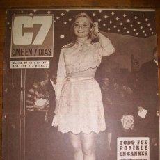 Cinema: C7 : CINE EN 7 DÍAS. AÑO VI. NÚM. 319 ; 20 DE MAYO DE 1967. Lote 46957062