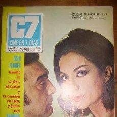 Cinema: C7 : CINE EN 7 DÍAS. AÑO VIII. NÚM. 404, ESPECIAL ; 4 DE ENERO DE 1969. Lote 46957167