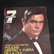 Cine: REVISTA 7 DIAS JAMES BOND SEAN CONNERY ESPAÑA 1965 AÑOS 60 Nº28 COLECCION AGENTE SECRETO. Lote 47086444