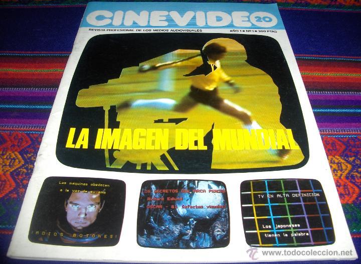 CINEVIDEO 20 Nº 1. 300 PTS. 1982. LA IMAGEN DEL MUNDIAL 82, LOS ÓSCARS 1981. BUEN ESTADO Y RARA. (Cine - Revistas - Otros)