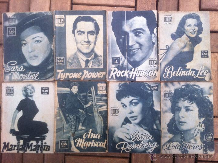 LOTE 8 REVISTA COLECCION IDOLOS DEL CINE # 2,4,18, 25,40,43,46,76 LOLA FLORES, SARA MONTIEL, ETC.. (Cine - Revistas - Colección ídolos del cine)