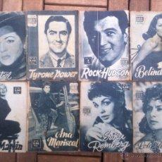 Cine: LOTE 8 REVISTA COLECCION IDOLOS DEL CINE # 2,4,18, 25,40,43,46,76 LOLA FLORES, SARA MONTIEL, ETC... Lote 47301408