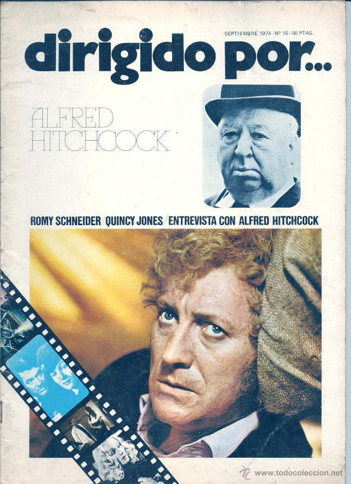 DIRIGIDO POR...NÚMERO 16: ALFRED HITCHCOCK. SEPTIEMBRE 1974 (Cine - Revistas - Dirigido por)