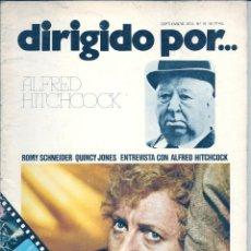 Cine: DIRIGIDO POR...NÚMERO 16: ALFRED HITCHCOCK. SEPTIEMBRE 1974. Lote 47347952