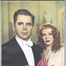 Cine: EL LIBRO DE LA PELICULA Nº 1 GILDA , LUIS DE CARALT 1951- RITA HAYVORTH, GLENN FORD, GEORGE MCREADY. Lote 152030366