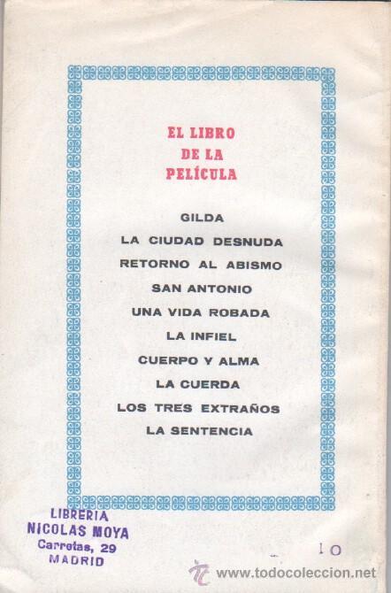 Cine: EL LIBRO DE LA PELICULA Nº 1 GILDA , LUIS DE CARALT 1951- RITA HAYVORTH, GLENN FORD, GEORGE McREADY - Foto 2 - 152030366
