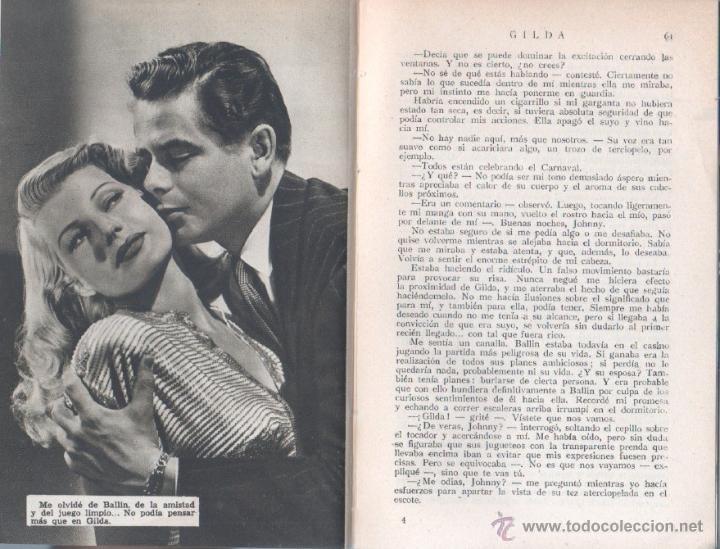 Cine: EL LIBRO DE LA PELICULA Nº 1 GILDA , LUIS DE CARALT 1951- RITA HAYVORTH, GLENN FORD, GEORGE McREADY - Foto 4 - 152030366
