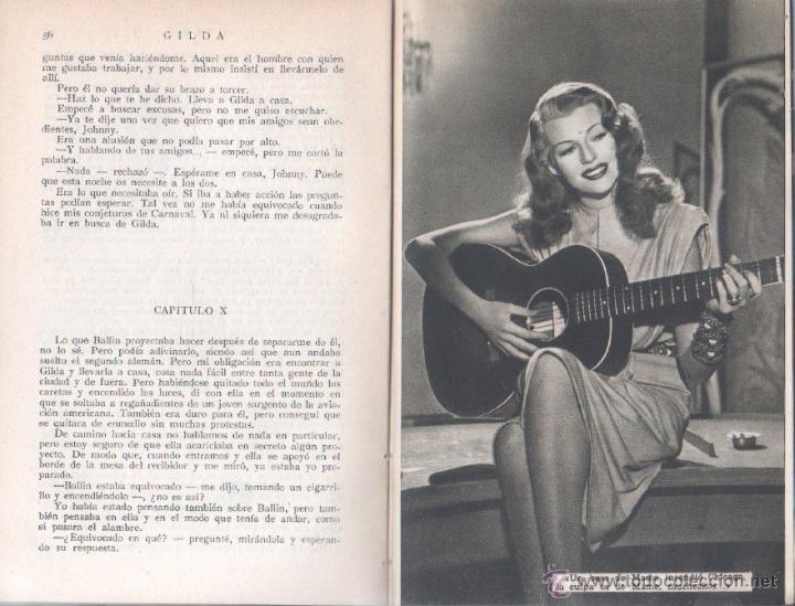 Cine: EL LIBRO DE LA PELICULA Nº 1 GILDA , LUIS DE CARALT 1951- RITA HAYVORTH, GLENN FORD, GEORGE McREADY - Foto 5 - 152030366