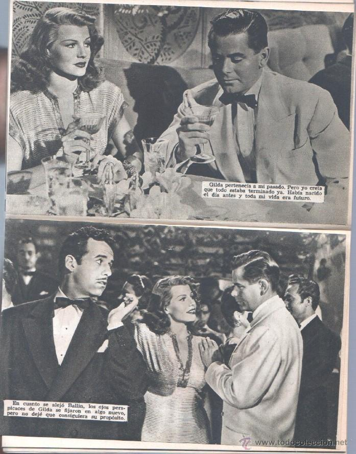 Cine: EL LIBRO DE LA PELICULA Nº 1 GILDA , LUIS DE CARALT 1951- RITA HAYVORTH, GLENN FORD, GEORGE McREADY - Foto 6 - 152030366