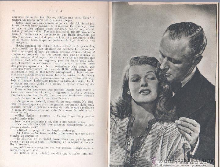 Cine: EL LIBRO DE LA PELICULA Nº 1 GILDA , LUIS DE CARALT 1951- RITA HAYVORTH, GLENN FORD, GEORGE McREADY - Foto 8 - 152030366