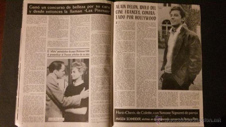 Cine: REVISTA DE CINE RADIOCINEMA Nº 474-1961-ANGIE DICKINSON-ANOUK AIMEE-ALAIN DELON-PACO RABAL- - Foto 3 - 47581822