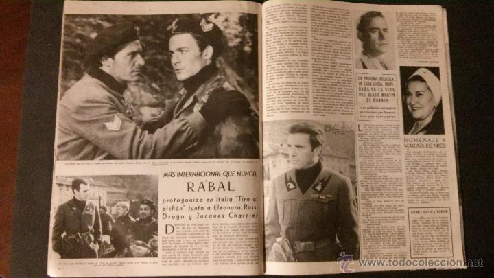 Cine: REVISTA DE CINE RADIOCINEMA Nº 474-1961-ANGIE DICKINSON-ANOUK AIMEE-ALAIN DELON-PACO RABAL- - Foto 4 - 47581822
