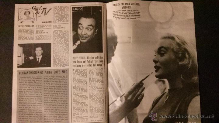 Cine: REVISTA DE CINE RADIOCINEMA Nº 474-1961-ANGIE DICKINSON-ANOUK AIMEE-ALAIN DELON-PACO RABAL- - Foto 5 - 47581822
