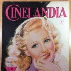 Cine: CINELANDIA - REVISTA DE CINE -TOMO X - NÚMERO 2 - FEBRERO 1936 - GINGER ROGERS. Lote 47659664