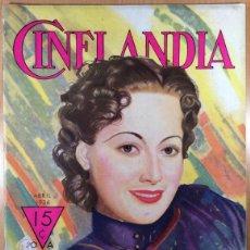 Cinéma: CINELANDIA - REVISTA DE CINE -TOMO X - NÚMERO 4 - ABRIL 1936 - OLIVIA DE HAVILLAND. Lote 47659797