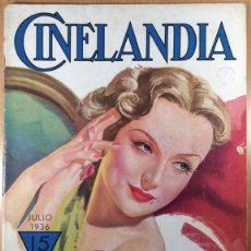 Cine: CINELANDIA - REVISTA DE CINE -TOMO X - NÚMERO 7 - JULIO 1936 - CAROLE LOMBARD. Lote 47659860
